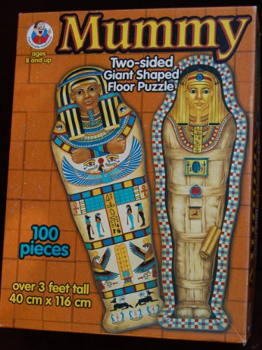 Picture of Frank Schaffer Egyptian Mummy 2 Sided Giant 3' Shaped Floor Puzzle 100 Pieces Ages 8+ (B003Q2E2EE) (Floor Puzzles)