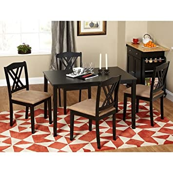 Simple Living Sienna 5-piece Dining Set One Shaker Table and Four Chairs Brown