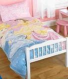 Childrens/Kids Girls Disney Princess Junior Bed Quilt/Duvet Cover Bedding Set (Junior Bed) (Pink)