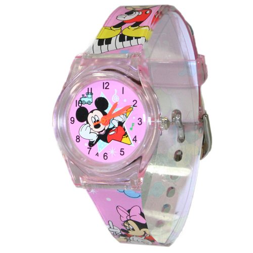 Mickey Mouse Children Analogue Watch Pink S