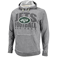 NFL Mens York Jets Crucial Call Ath Gray Heather/Natural Long Sleeve Hooded French Terry by NFL
