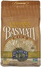 Lundberg Rice Eco-Farmed California Basmati Brown Gluten Free 2-pounds Pack of6