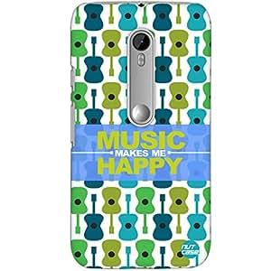Designer Motorola Moto G3 Case Cover Nutcase -Music Makes Me Happy -Guitar