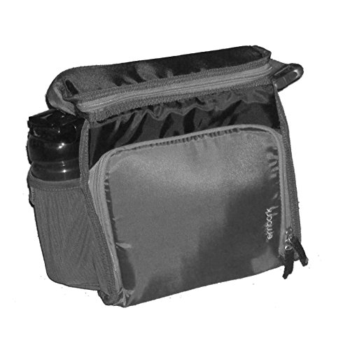 Embark Black Soft Lunch Box & Water Bottle Insulated Lunch Bag Lunchbox