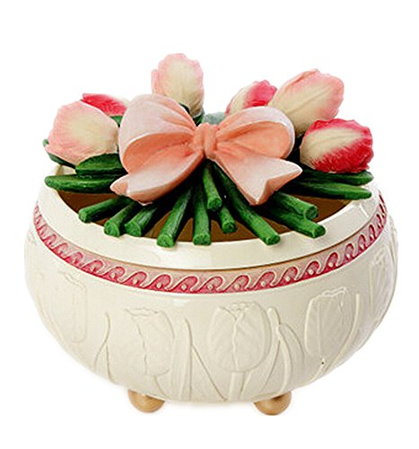 "Vas European Style Vintage ""Floral"" Jewelry Box & Decoration (Tulip) front-11047"