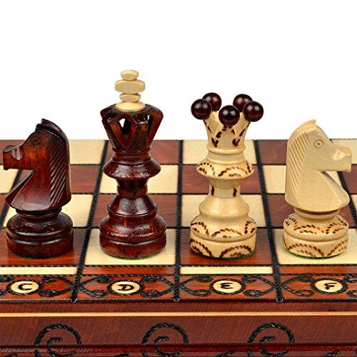 """""""Ambassador"""" European International Chess Set - 21.7"""""""