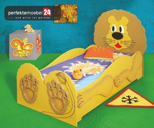 Lion Bett Kinderbett Spielbett inkl. Lattenrost und Matratze kurze Lieferzeit! KLEIN (165cm x 110 cm x 87cm) günstig