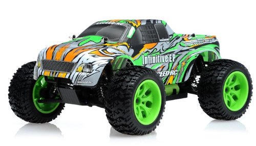 1/10 2.4Ghz Exceed Rc Electric Infinitive Ep Rtr Off Road Truck (Stripe Green)