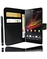 Etui Housse Luxe Portefeuille pour Sony XPERIA Z + STYLET et 3 FILMS OFFERTS !