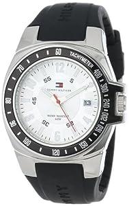 Tommy Hilfiger Men's 1790485 Black Rubber Strap Watch