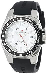 Tommy Hilfiger Men's 1790485 Black Rubber Strap Watch