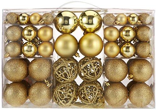 100-Weihnachtskugeln-Gold-glnzend-glitzernd-matt-Christbaumschmuck-bis--6-cm-Baumschmuck-Weihnachten-Deko-Anhnger