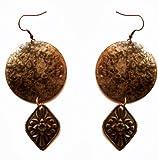 Molcha Engraved Vintage Metal Earrings For Women _8048