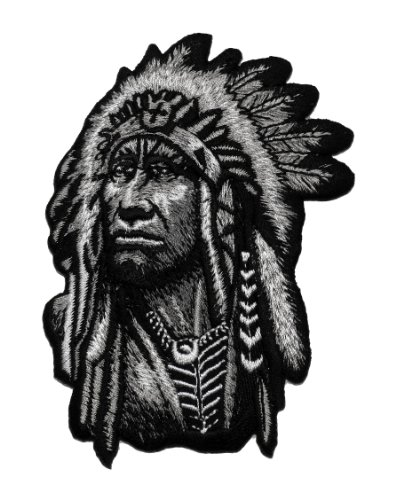 Realistic Chief Native American Indian DIY Applique Embroidered Sew Iron on Patch NAI-003 (Cheap Iron On Patches compare prices)