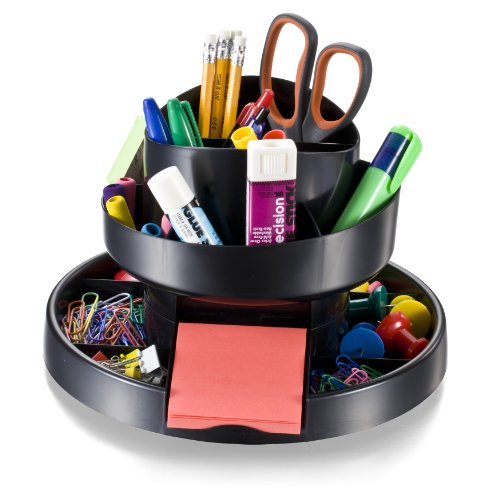Officemate deluxe rotary organizer 16 compartments - Best desk organizers ...