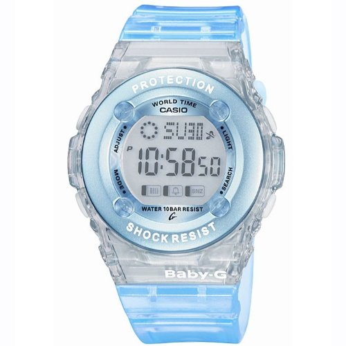 Casio BG-1302-2ER BABY-G ladies digital resin strap watch