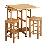 Winsome Wood Table Drop Leaf Square Stool Natural Picture
