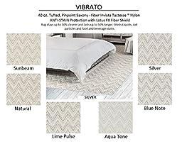2\'x3\' Aqua Tone - VIBRATO Zig Zag - Custom Carpet Area Rug - 40 Oz. Tufted, Pinpoint Saxony - Nylon (6 Colors to Choose From)