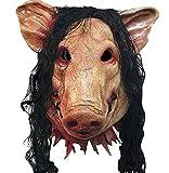 Halloweenハロウィン仮面お面Saw豚豚の頭動物変装 マスク雑貨グッズマスクコスプレグッズマスクハロウィンコスプレコスチューム衣装変装かぶりものアニマルパーティー動物仮面どうぶつ