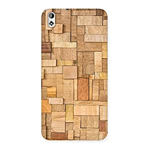 Special Wood Blocks Pattern Back Case Cover for HTC Desire 816