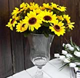 1 Bunch 7 Heads Artificial Sunflowers Bouquet Home Craft Decor DIY