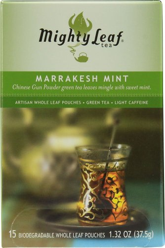 Mighty Leaf Tea, Marrakesh Mint Green Tea --(Pack Of 6)