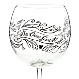 Disney Be My Guest Red Wine Glass Part of the Beauty and the Beast Collection