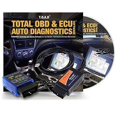 FeatureTotal OBD & ECU Auto Diagnostics Software (TOAD) + ELM327