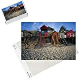 Photo Jigsaw Puzzle of Beach Huts, Wells-Next-The Sea, Norfolk, England from Arcaid Images