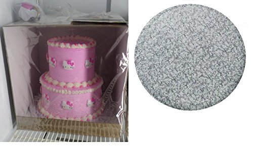 Cakesuppyshop Cjk87a -Two / Three Tier 16inch Tall 16x16x16 Cake Box with 16inch Elegant Silver Corrugated Round Cake Drum Board (Covered Cake Boards compare prices)