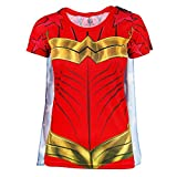 DC Comics Wonder Woman Sublimated Womens Caped T-Shirt | XL
