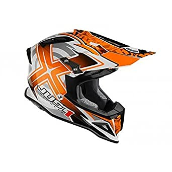 JU001145 - Casque Just1 J12 Mister X Carbone Orange L