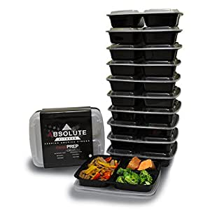 3 compartment food containers with lids for portion control stackable leak proof. Black Bedroom Furniture Sets. Home Design Ideas
