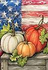 Breeze Art Patriotic Pumpkin Garden Flag 31040