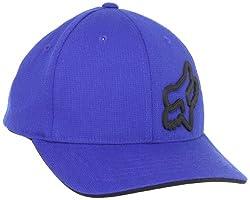 Fox Big Boys' Signature Flexfit Hat, Blue, One Size