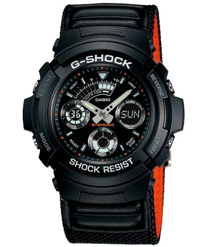 Gee and shock G-shock CASIO watch men's military AW-591MS-1 black [parallel import goods]