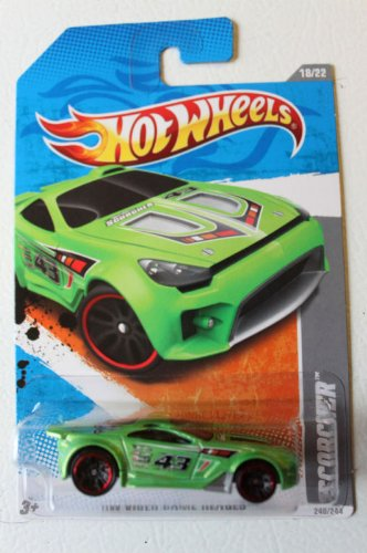 2011 Hot Wheels 240/244 - HW Video Game Heroes 18/22 - Scorcher (Green) - 1