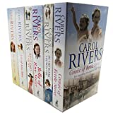 East End 6 Books Collection Carol Rivers Saga Set (East end Angel, In the Bleak Midwinter, Connie of Kettle street, Bella of Bow street, Lily of Love lane, Eve of the isle) Carol Rivers