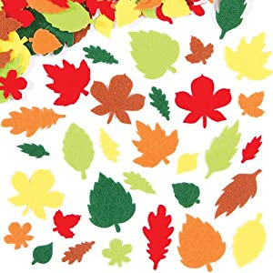 Leaf Felt Stickers (Pack of 144)