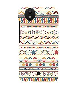 Circle Pattern Design 3D Hard Polycarbonate Designer Back Case Cover for Micromax Android A1 :: Micromax Canvas A1 AQ4502