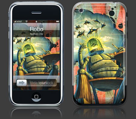Apple iPhone Premium Vinyl Skin - Robo (GelaSkins Brand) Made in Canada