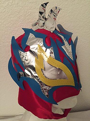 [FENIX red n silver KIDS MASK LUCHA UNDERGROUND SIN CARA LUCHA LIBRE MASK PENTAGON] (Childrens Nacho Libre Costume)