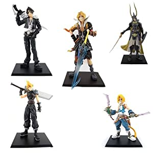 VIP Offer - 5 x Anime FINAL FANTASY VII Cloud Squall Tidus Figures