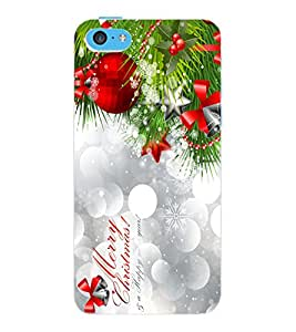 ColourCraft Christmas Design Back Case Cover for APPLE IPHONE 5C