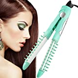 BlueTop Professional Mini Portable Women Hot Brush Hair Curler Hair Straightener 3 In 1 Ceramic Hair Styling Tools...