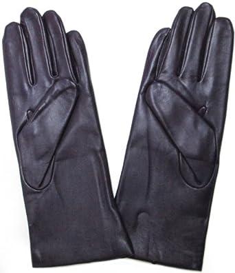 Fownes Women's Cashmere Lined Blackberry Purple Lambskin Leather Gloves 6/XS