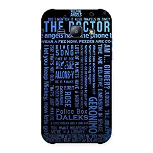 Cute Blue Doc Angel Back Case Cover for Galaxy J1