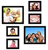 UberLyfe Elegant Black Photo Frame Collage Collection - Set of 6