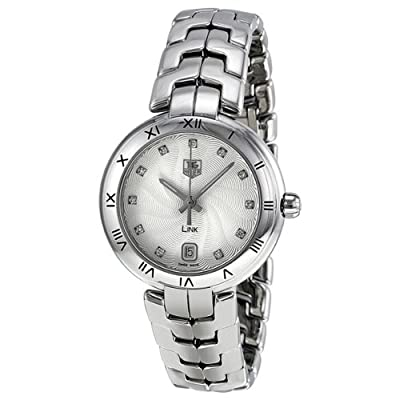 Tag Heuer Link Diamond Silver Guilloche Stainless Steel Ladies Watch WAT1311.BA0956 from Tag Heuer