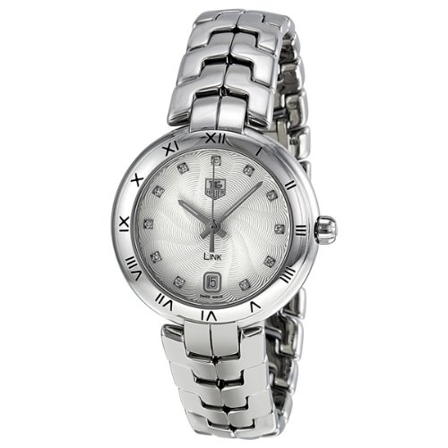 Tag Heuer Link Diamond Silver Guilloche Stainless